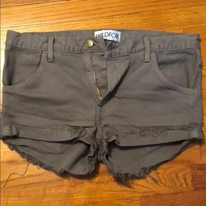 Wild fox army green jean shorts